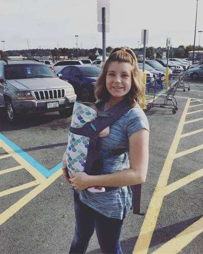 Sweet Crue and I rocking the carrier!